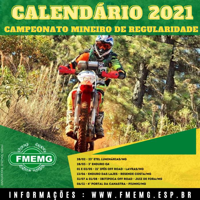 Calend U00e1rio Mineiro De Regularidade 2021 FMEMG