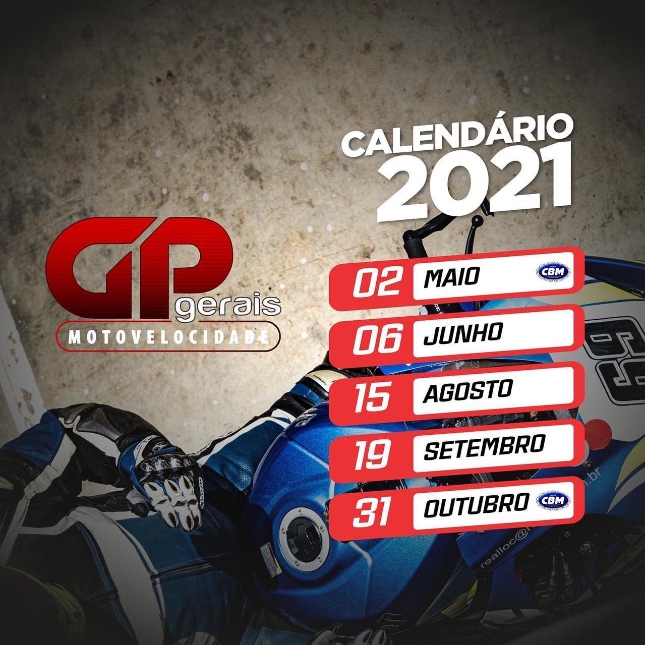 Calend U00e1rio Mineiro De Motovelocidade 2021 FMEMG